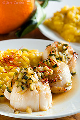 Thumbnail image for Coquilles St. Jacques and Saffron Risotto, and thoughts for CHCH