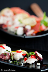 Thumbnail image for Daring Cooks do Ceviche – Grapefruit and mint ceviche salad