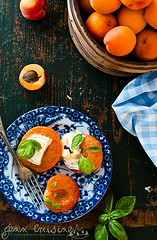 Thumbnail image for Buttered Apricots and Goat Cheese