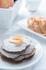 "Thumbnail image for Monthly Mingle ""Americana"" – Apple Cinnamon Pancakes"